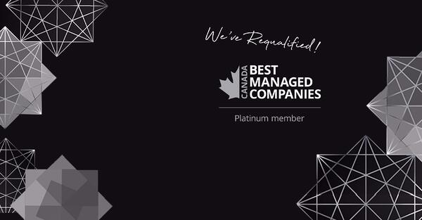 Aplin Requalifies for Canada's Best Managed Companies Platinum Award