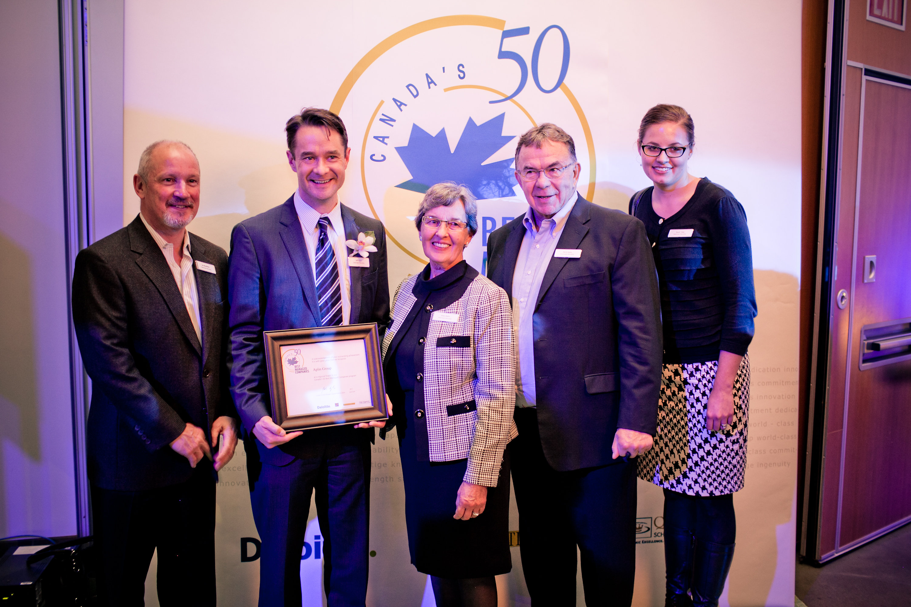 David Aplin Group named one of Canada's 50 Best Managed Companies of 2011